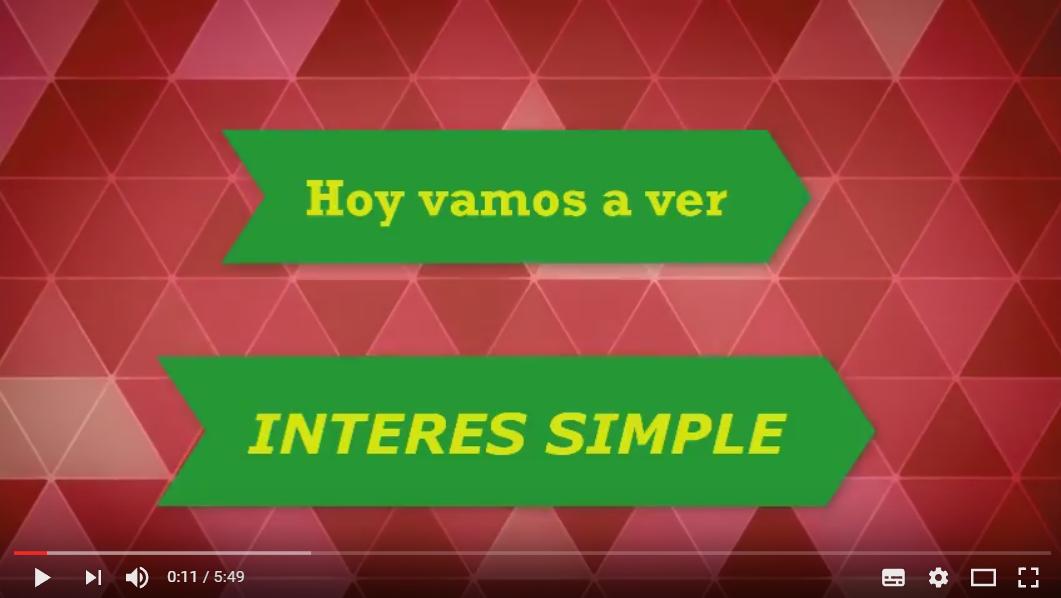 El Interés Simple – Matematicas 3 de la Eso